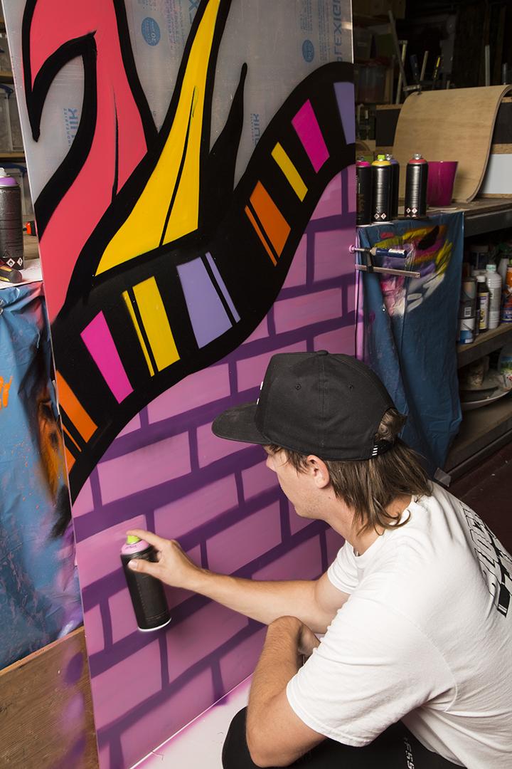 Freesia installatie Roos van Unen en Kristel van Dijk Fleuramour 2018 graffiti artiest Nane