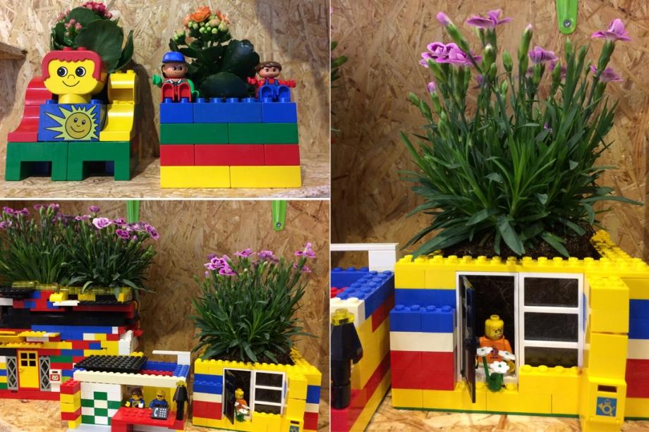 Lego planters Flower Factor