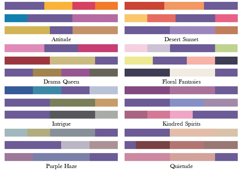 pantone colour harmonies