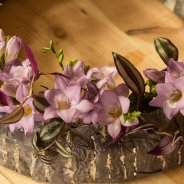 Freesia combined with Tradescantia