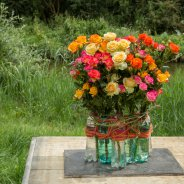 Recycle design with spray roses