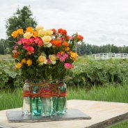 Recycle design with spray roses from Interplant Roses