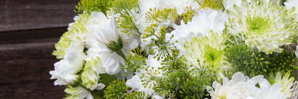 Fresh bouquets with Chrysanthemum