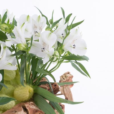 Natural Alstroemeria bouquet with cork