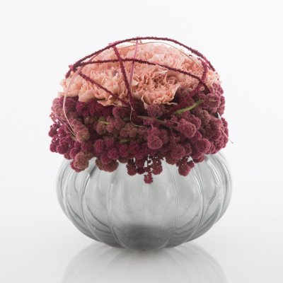 Spherical Dianthus arrangement