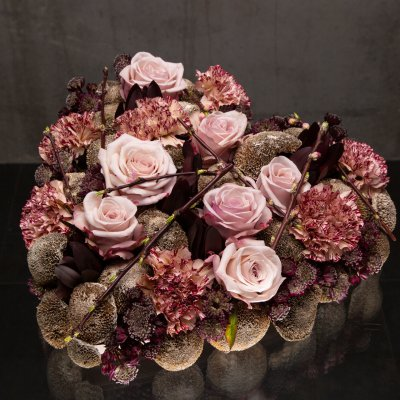Dark heart flower arrangement