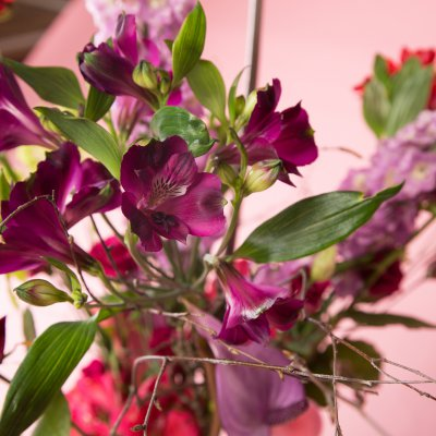 Sweet Alstroemeria field bouquet