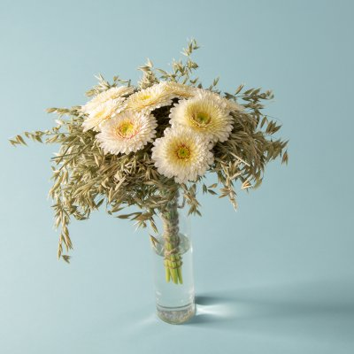 Bouquet with Gerberas and dried grasses