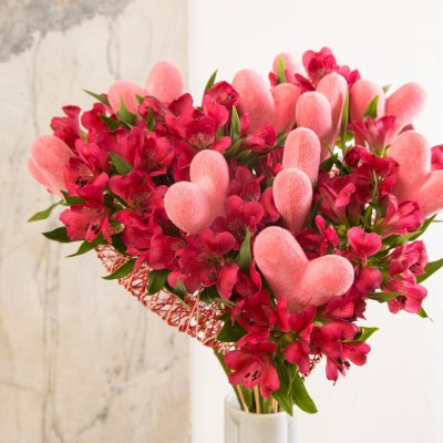 Alstroemeria bouquet bursting with love