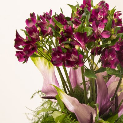 Purple Alstroemeria bouquet