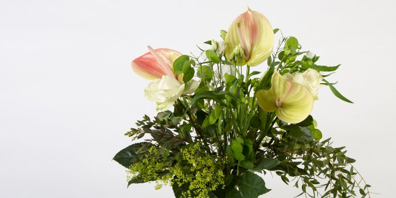 Bouquet enriched with Anthuriums