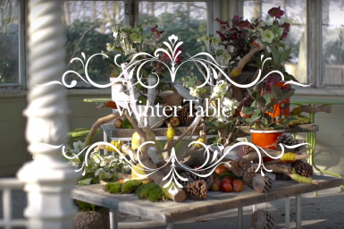 a Winter Table with Hellebores