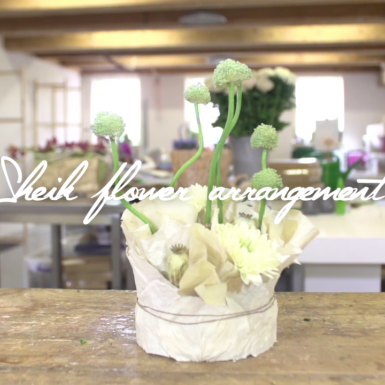 a Sheik flower arrangement