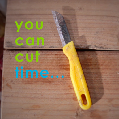 Did you know... you can cut time instead of flowers