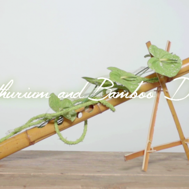 an Anthurium and Bamboo design