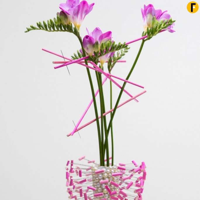 freestylefreesia pink freesia vase design close up flower factor