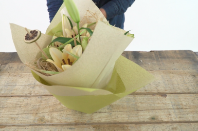 Sustainable grass paper wrapping