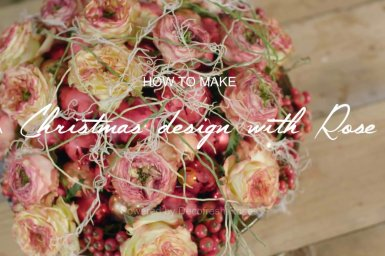 Christmas design with roses